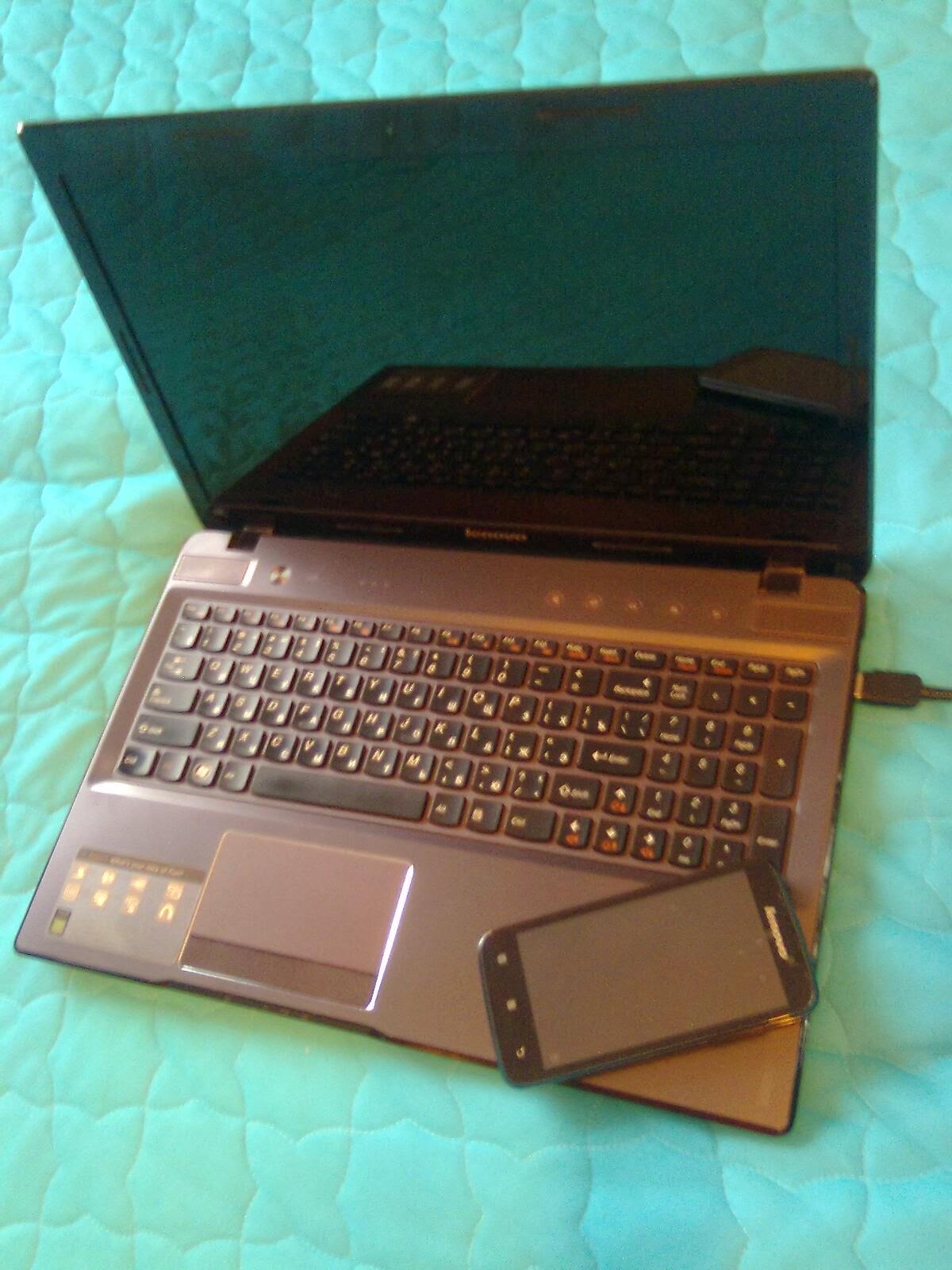 ноутбук и самртфон Lenovo