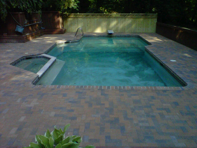 Pooldecks and pools pavers around your pool - Installing pavers around swimming pool ...
