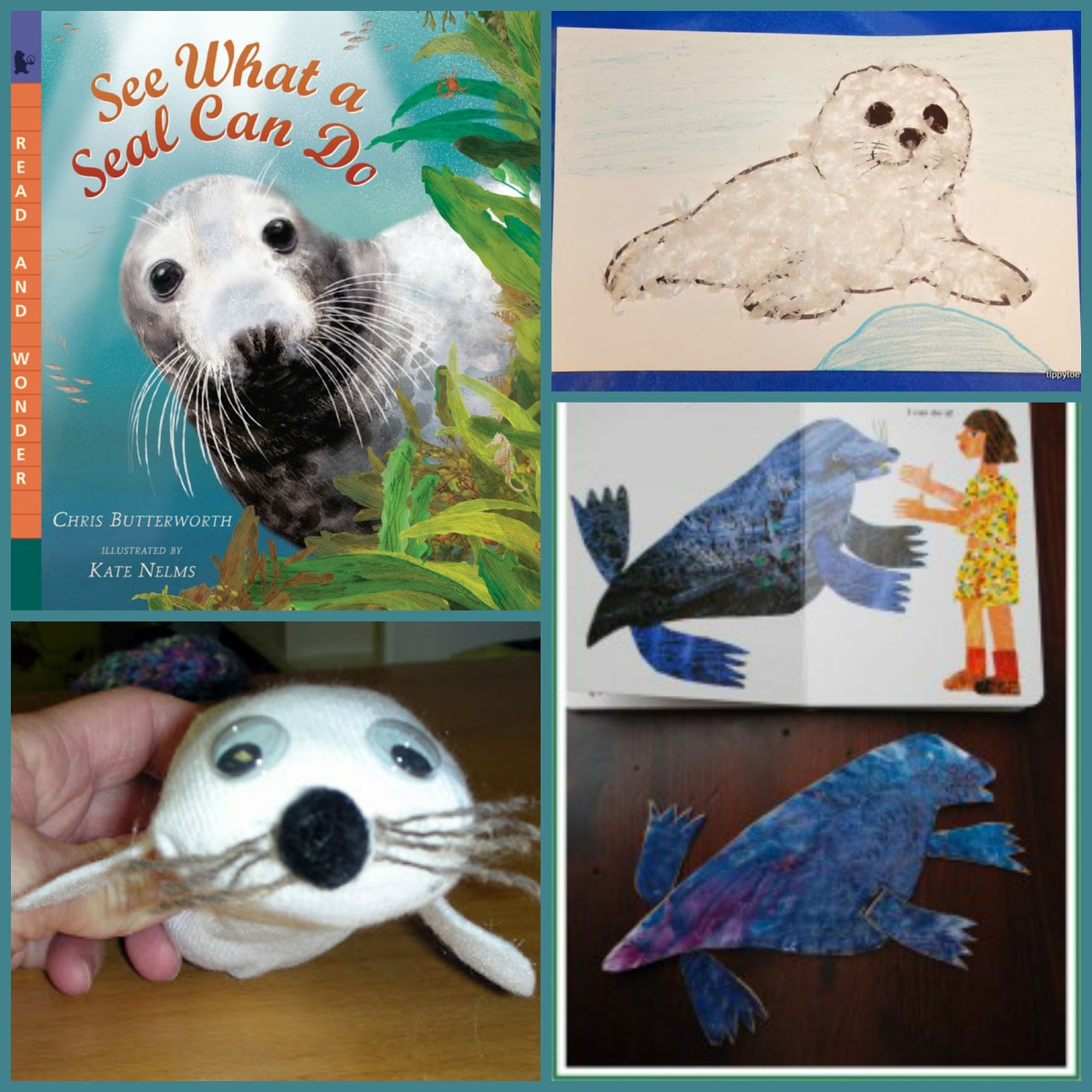 To Go With This Book I Found Some Fun Seal Crafts Try From Tippytoe Fluffy Pups And Harp Red Ted Art Kids Get Crafty
