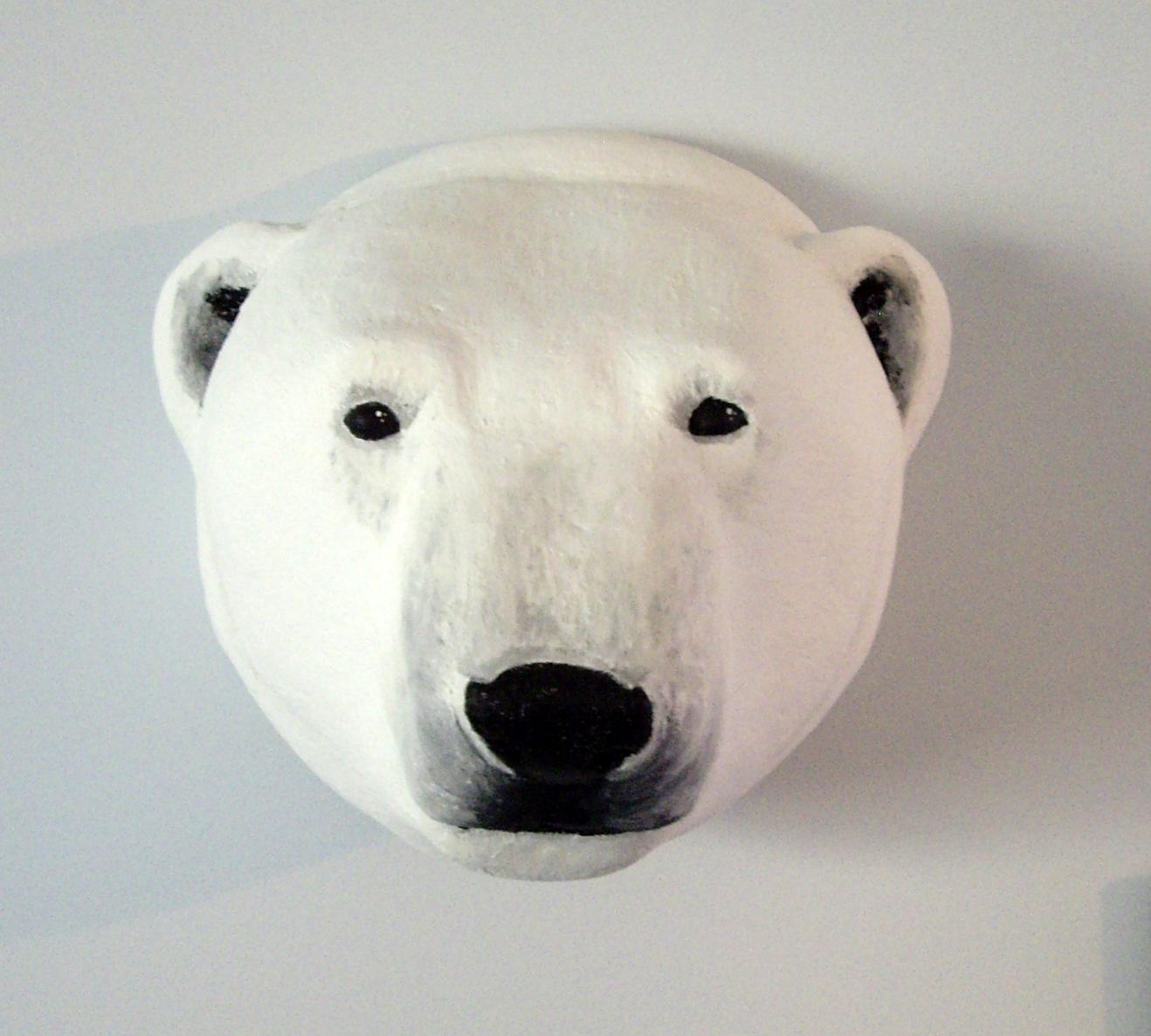 a polar bear trophy head why not
