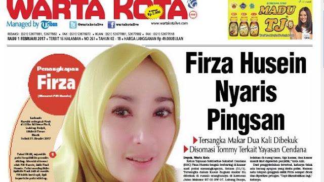 Pasca Ditahan di Polda Metro Jaya, Kondisi Kesehatan Firza Husein Memburuk