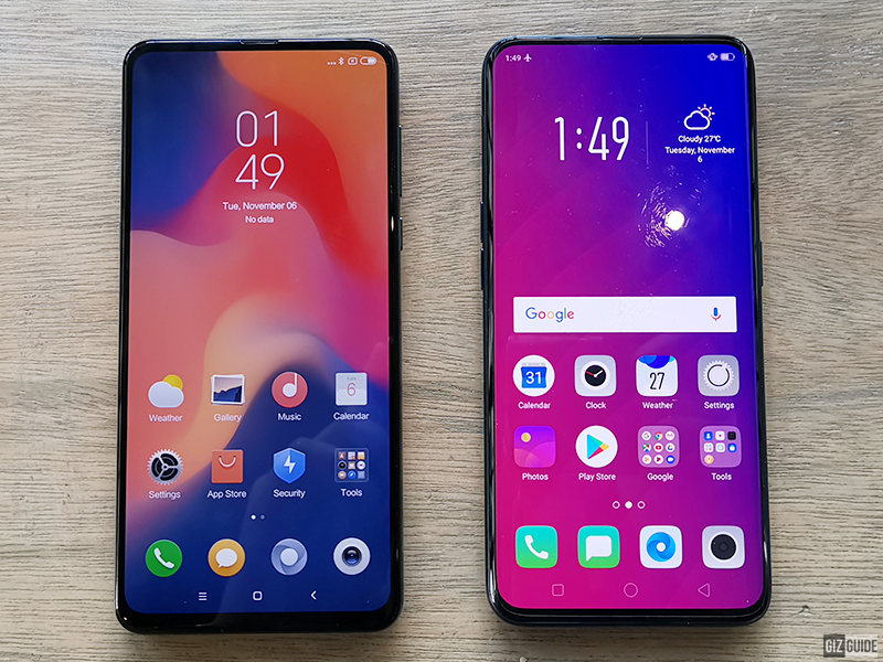 Xiaomi Mi MIX 3 vs OPPO Find X Specs Comparison
