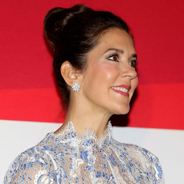 Crown Princess Mary jewels, diamond earrings