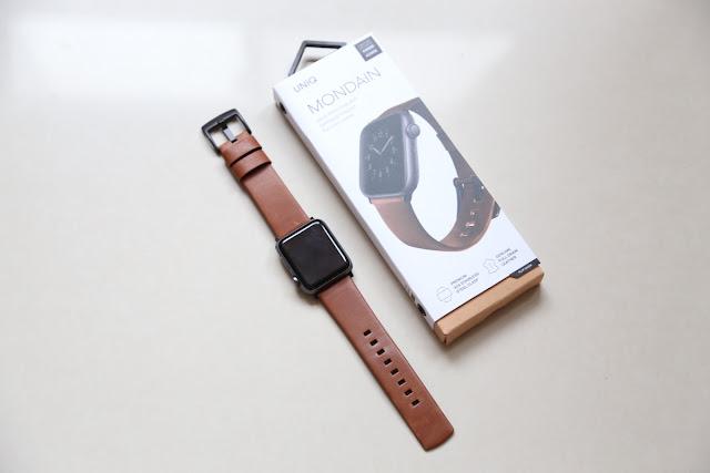 UNIQ Mondain 極簡薄型高級不銹鋼超柔軟真皮革錶帶:Apple watch 時尚新配件