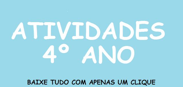 Atividades de português para o 4° ano