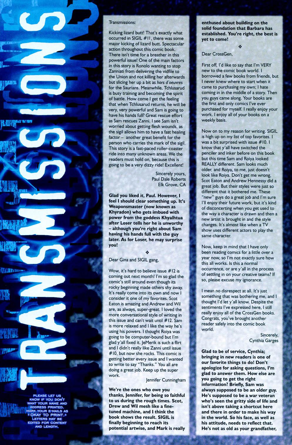 Read online Sigil (2000) comic -  Issue #12 - 29