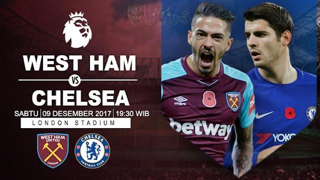 Prediksi Bola : West Ham United Vs Chelsea , Sabtu 09 Desember 2017 Pukul 19.30 WIB