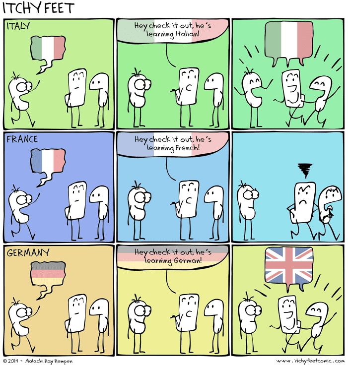 English In Italian: Itchy Feet: The Travel And Language Comic: Speaking Terms