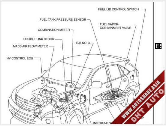 lexus rx400h 2007 wiring diagram toyota workshop manual. Black Bedroom Furniture Sets. Home Design Ideas
