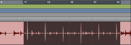 A Selection in the Pro Tools Timeline