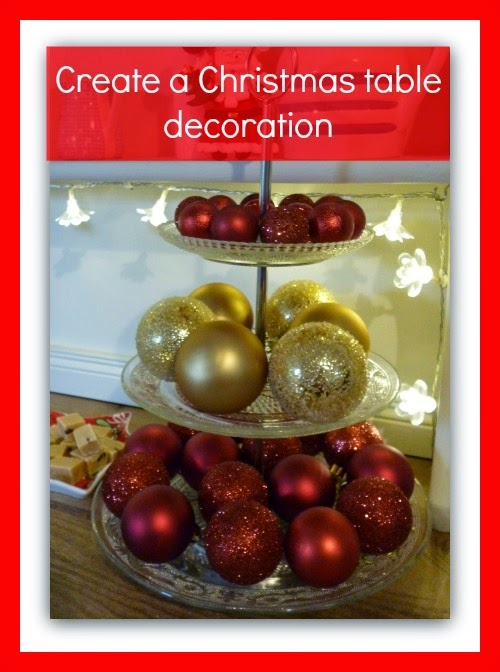 Make your own christmas table decoration