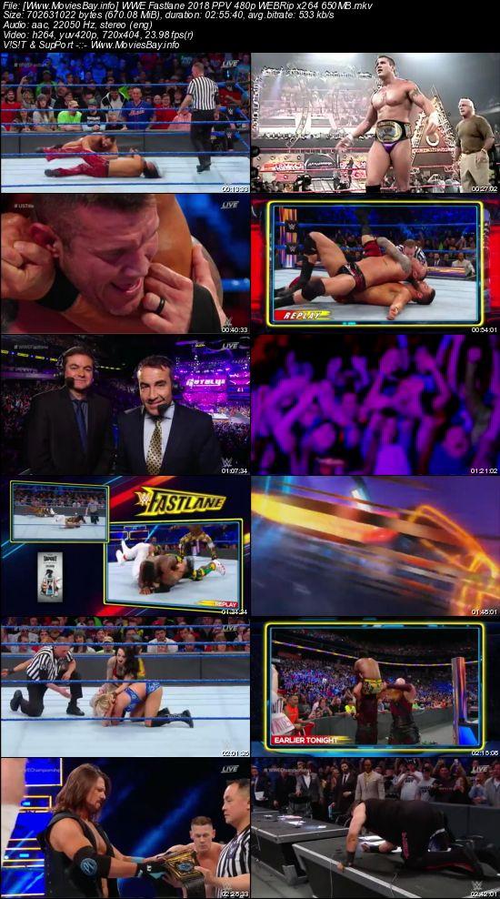 Screen Shoot of WWE Fastlane 2018 PPV 480p WEBRip x264 650MB