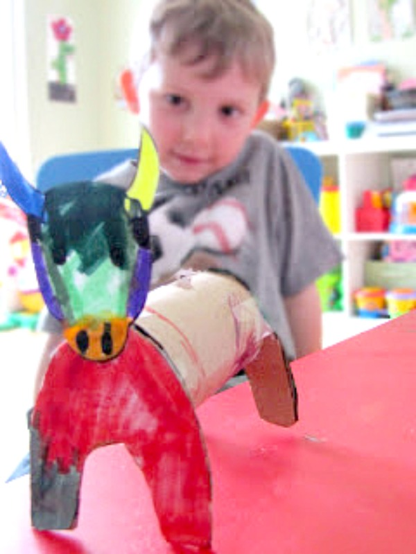 paper tube bull craft - the story of ferdinand activity