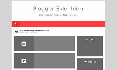 Blog Haberleri Widget Eklentisi