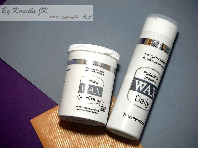 Pilomax WAX szampon  Pokrzywa maska Henna do włosów ciemnych