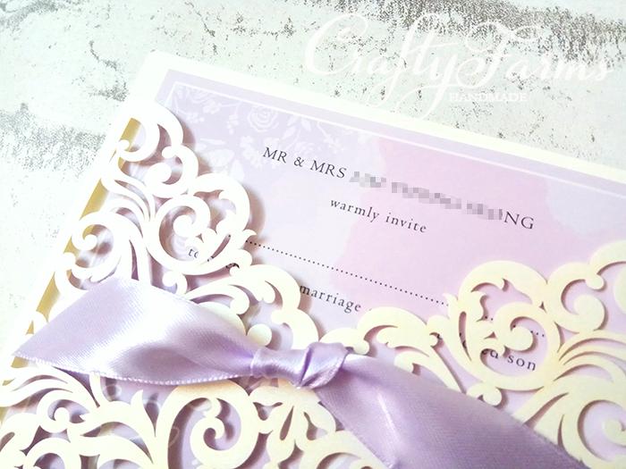Fresh Wedding Card Malaysia   Crafty Farms Handmade : Lilac & Ivory  WQ18