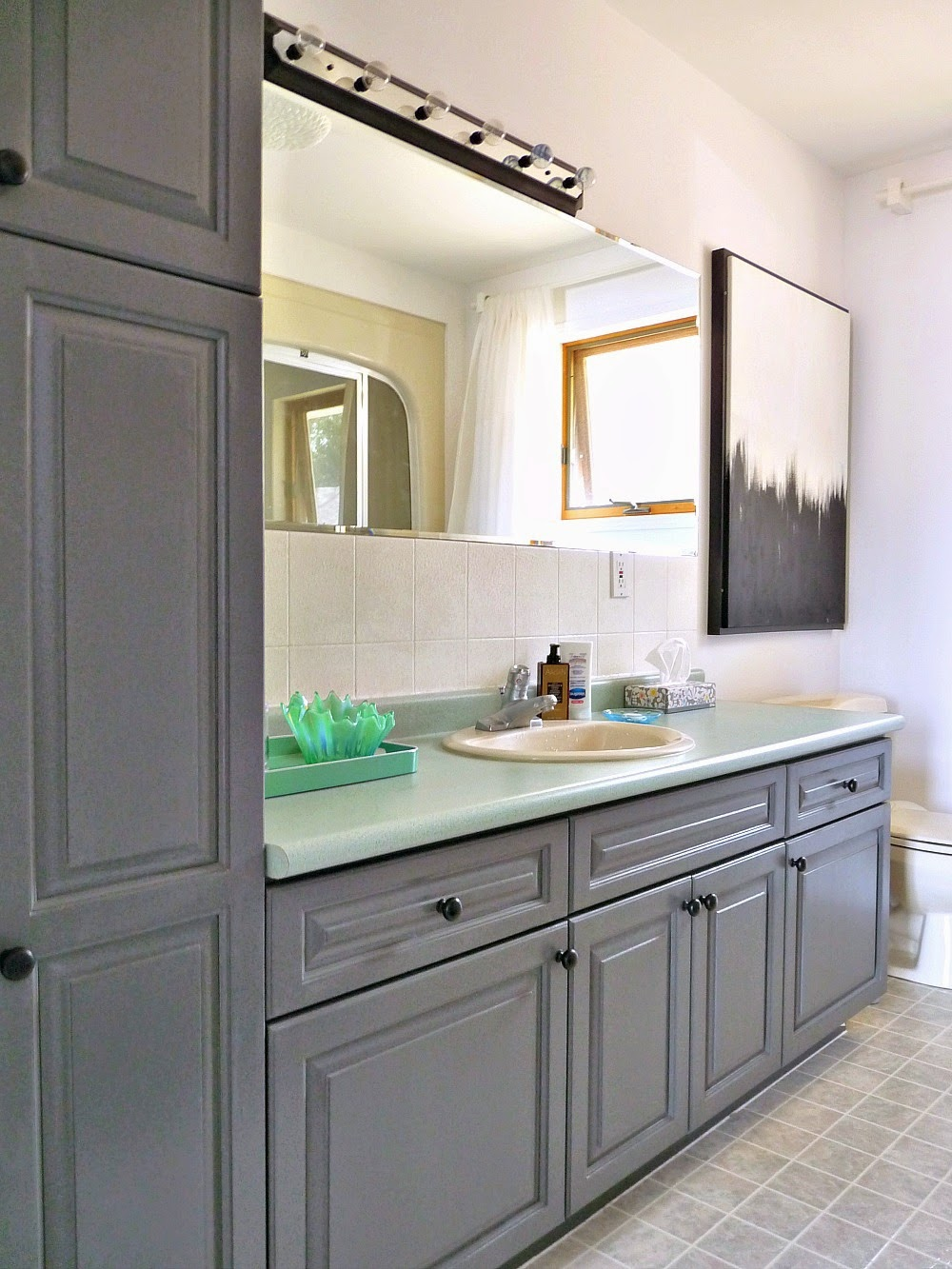 rustoleum kitchen cabinet paint a budget friendly bathroom almost two years laters what 5032