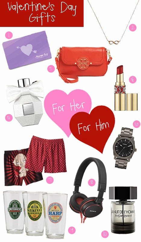 Valentine's Day Gift Guide Her Him