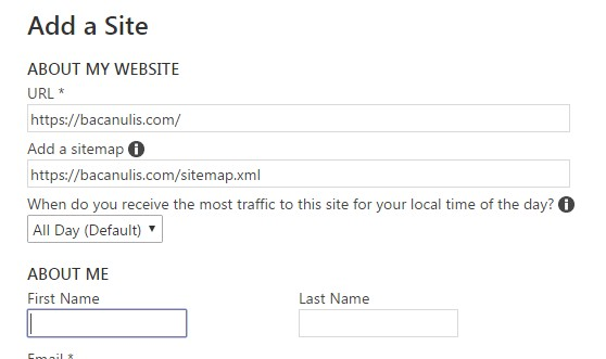cara mendaftarkan blog ke mesin pencari bing