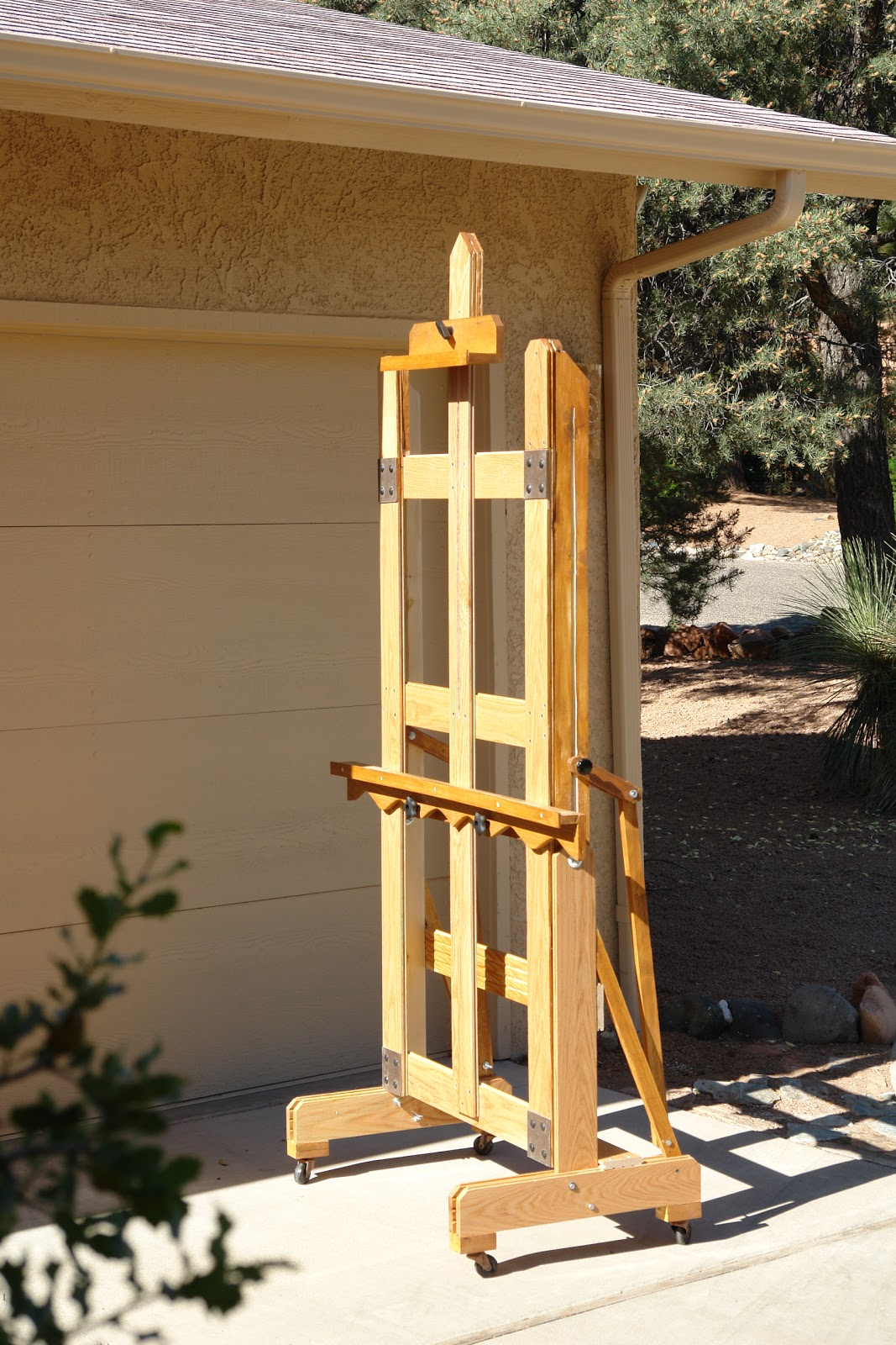 A Passion for Painting: I built this H Frame easel from left over ...