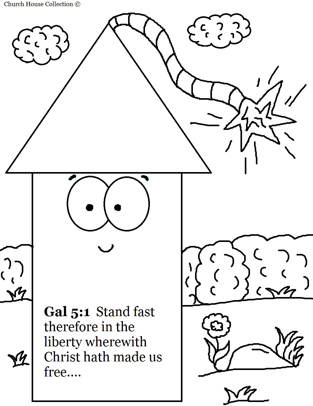 Free coloring pages fourth of july - Fourth Of July Fireworks Coloring Pages For Sunday School Galatians 5 1 Christ Hath Made Us Free