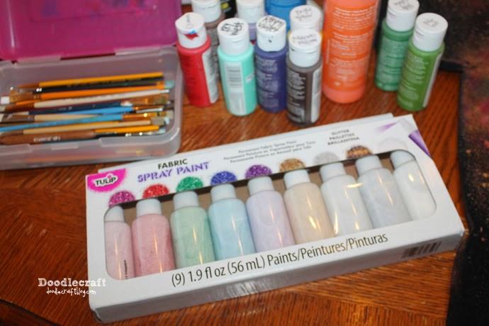 Glitter Painted Galaxy Shirts!