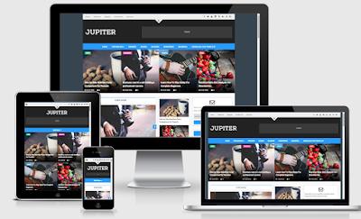 Jupiter Blogger Template - Style Magazine Responsive Blogger Template
