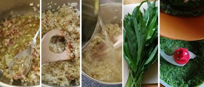 Zubereitung Bärlauch-Risotto mit Rezept