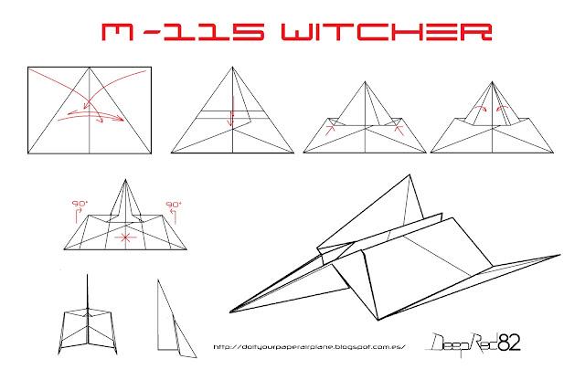 Infografía avión de papel M-115 Witcher
