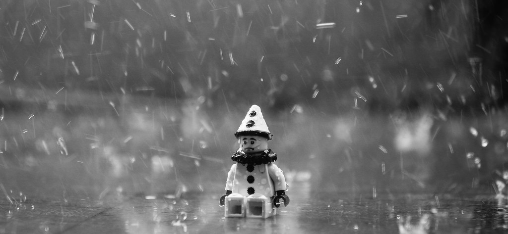 puppet under the rain