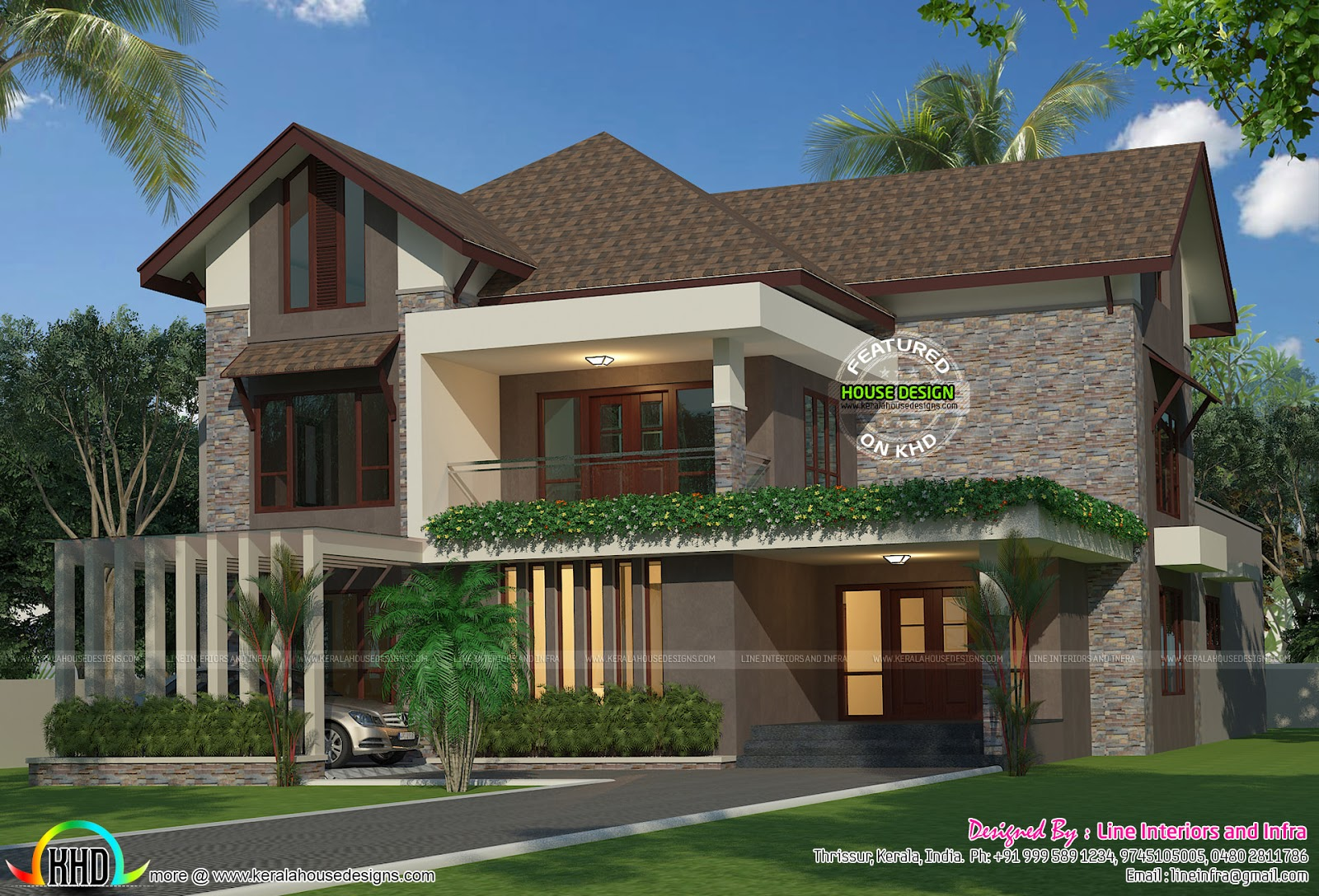 Eco Friendly 4 Bedroom Home Kerala Home Design And Floor