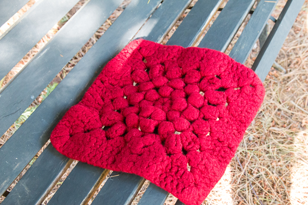 Sunny Side Felted Chair Pad @craftsavvy #craftwarehouse #crohet #diy #felted