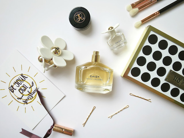 Marc Jacobs Daisy Perfume Fragrance Scent Bottle Flat Lay Floral