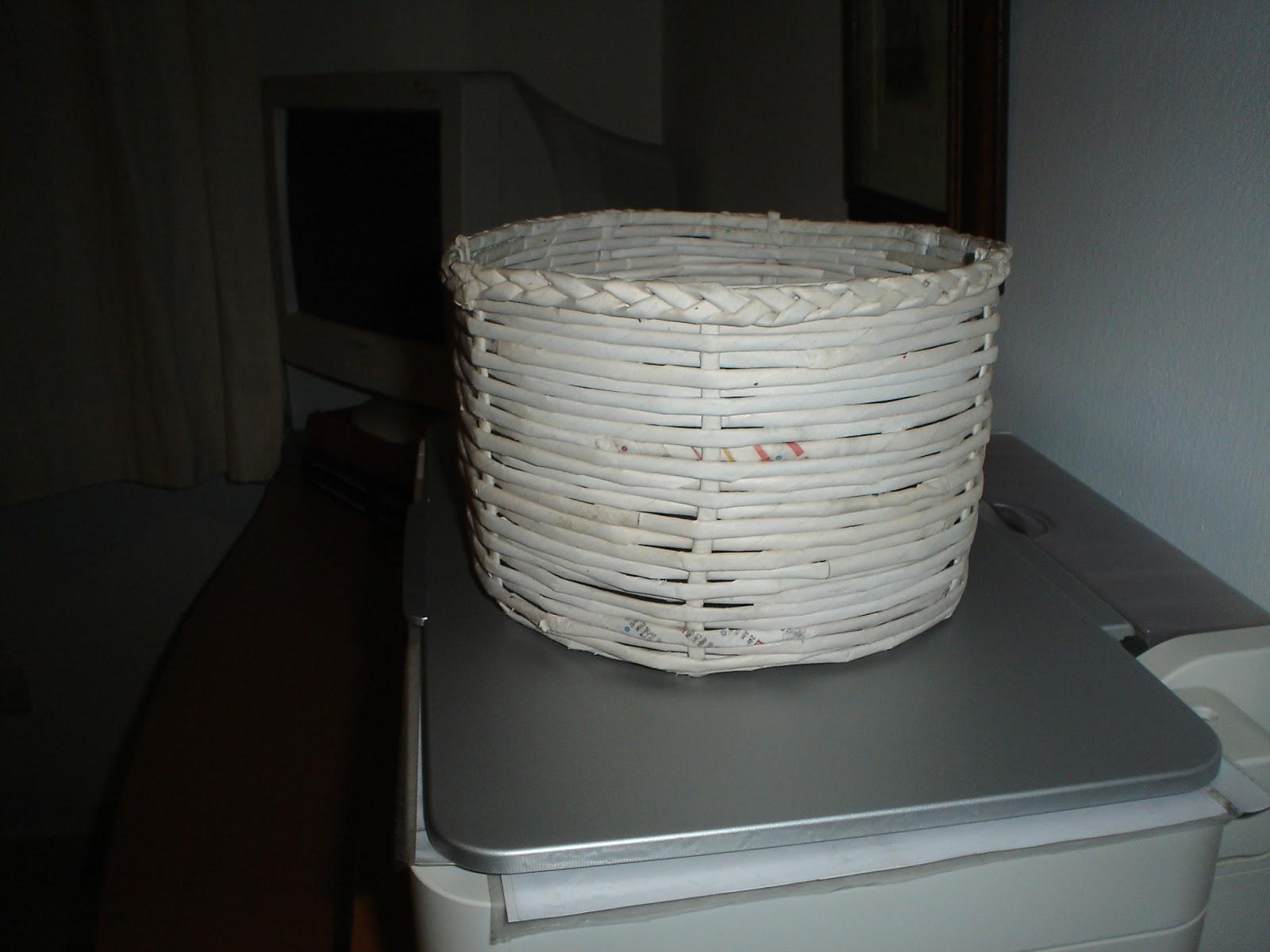 Manualidades y mas cosas de pepa manualidades con - Cestas de papel de periodico ...