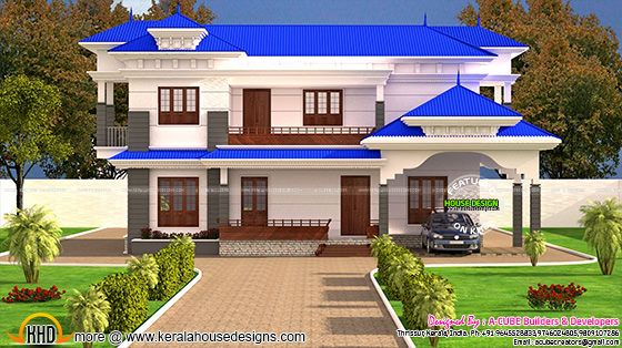 Kerala typical home design in 2121 sq-ft