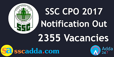 SSC CPO Notification 2017 FAQs