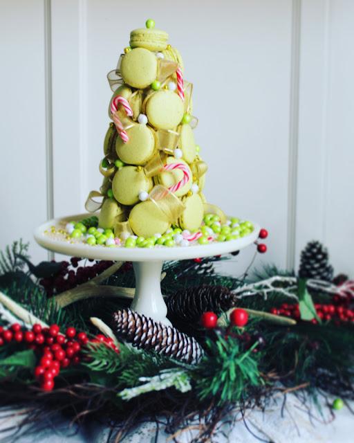 Macaron christmas tree: Árbol Navideño de macarons de pistache