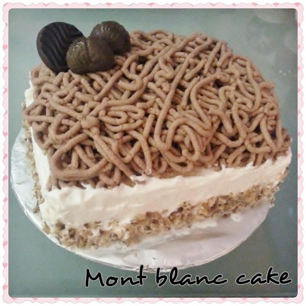Mont Blanc Chestnut Cake Recipe