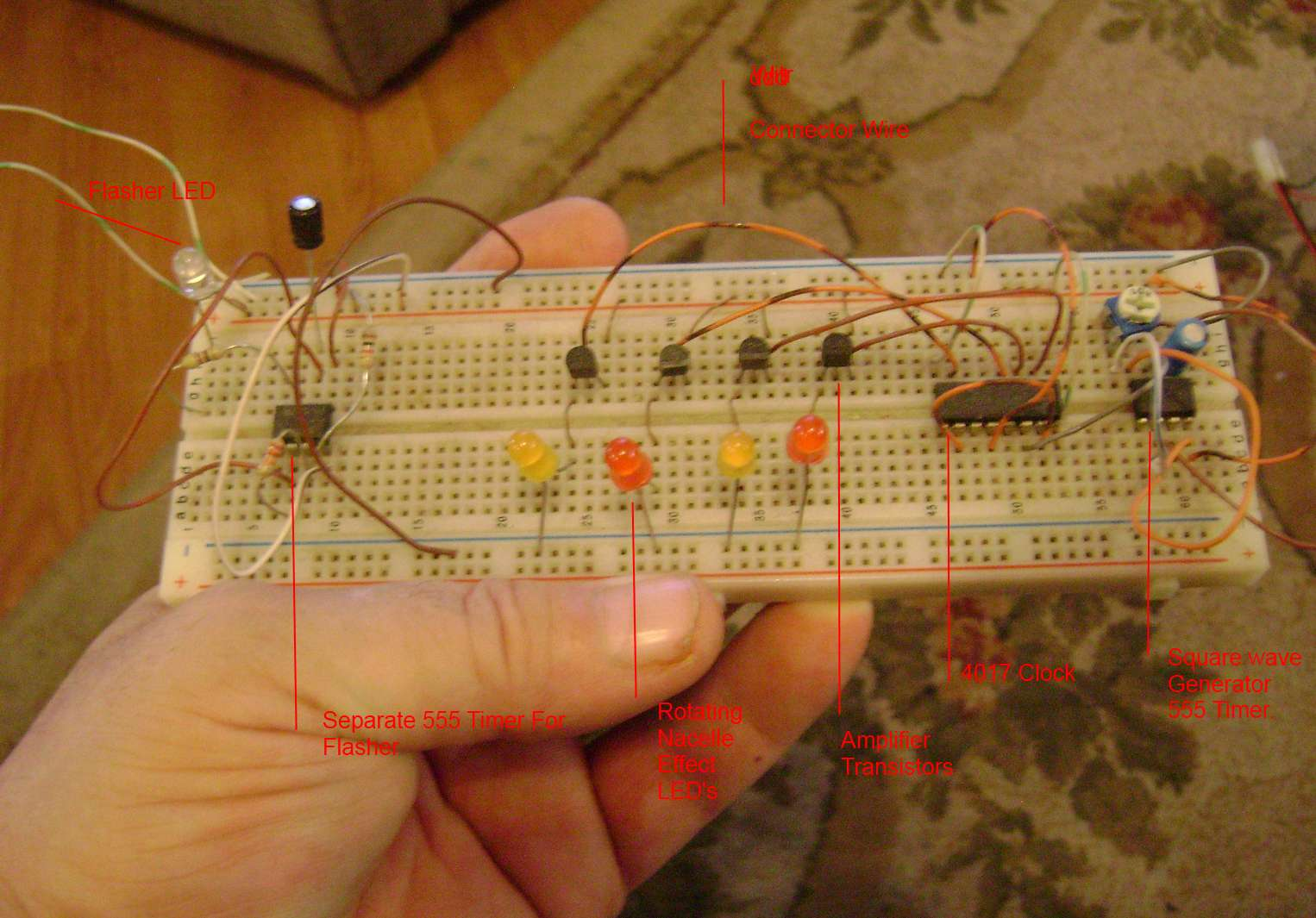 Kirktrekmodelers Model Blog Electronics For 5 Led Chaser Circuit Using 555 Chip Forum Circuits Below You See Im One Of Those Try Me Buttons To Check And Sort Out All My Leds From Recent Builds