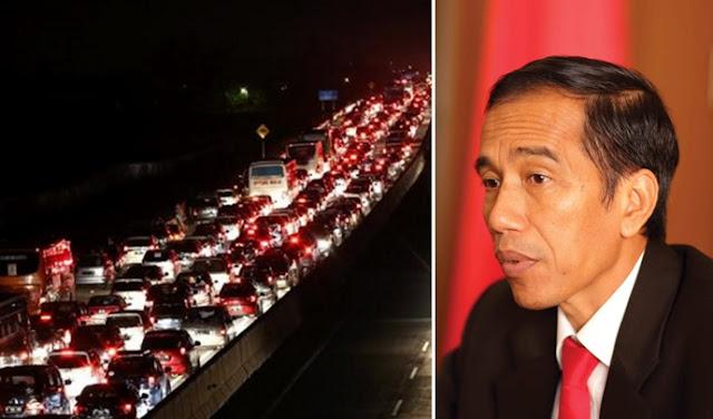 Macet Parah 40 Km, Jokowi: Keterlambatan Membangun 8 Tahun