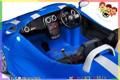 التصميم الداخلي لسيارة الأطفال الحقيقية