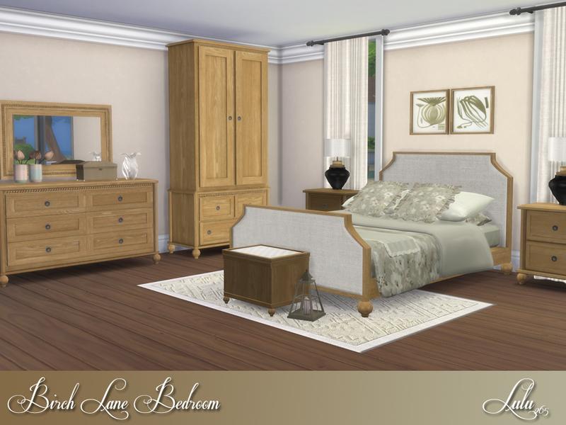 Contenido personalizado para sims 4 dormitorio birch lane for Dormitorio sims 4