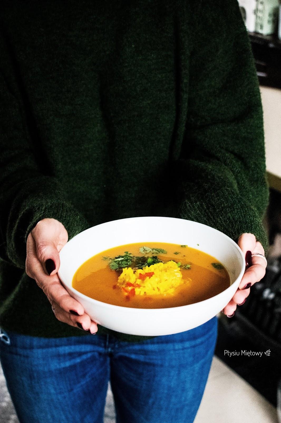 zupa, obiad, dynia, ptysiu mietowy
