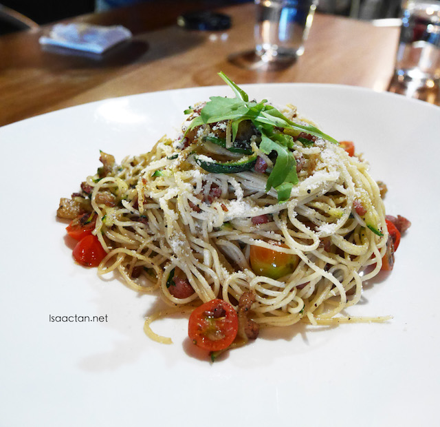 Chu Yao Char with Angel Hair Pasta (RM18.00)