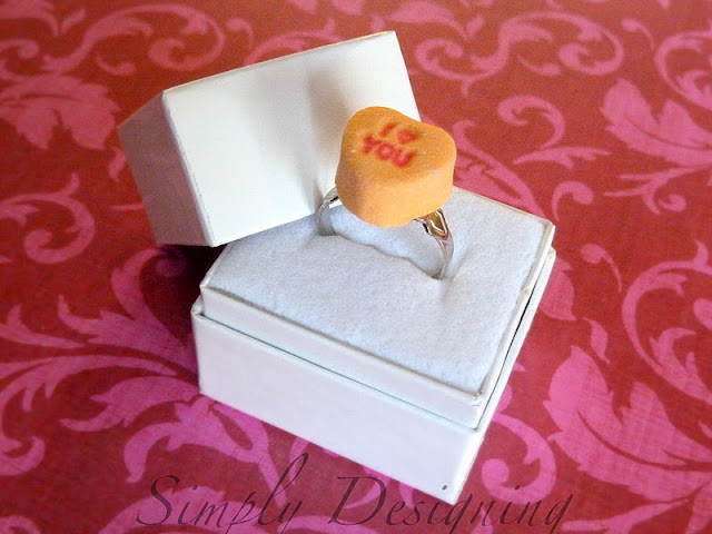 Conversation Heart Ring