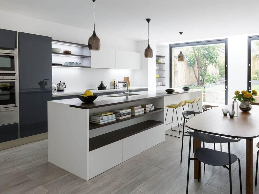 5 soluciones de islas de cocina con mesa para comer - Islas de cocina ...