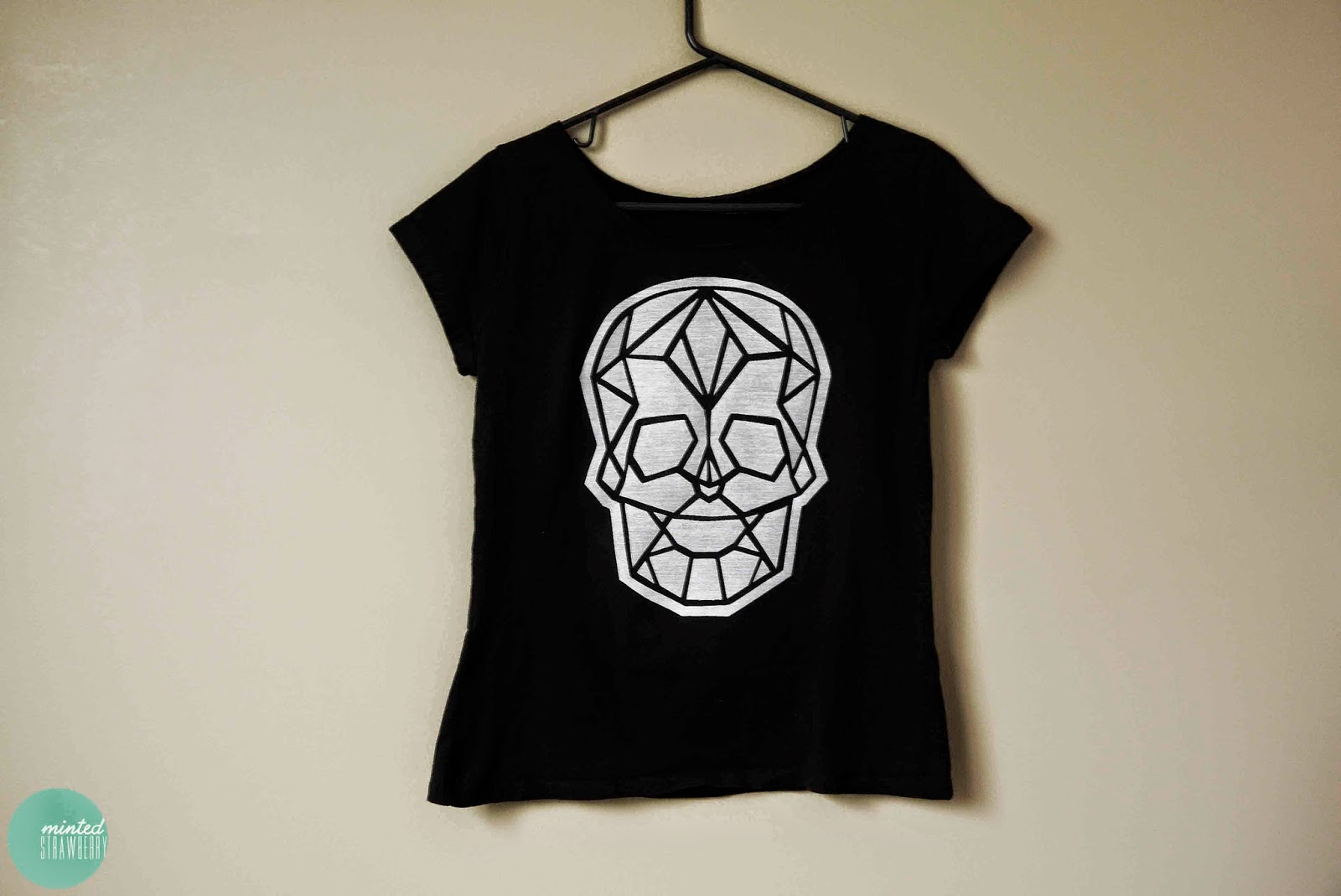 DIY: Geometric Skull Shirt - Minted Strawberry