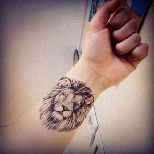 aslan erkek bilek dövmeleri lion wrist tattoos for men