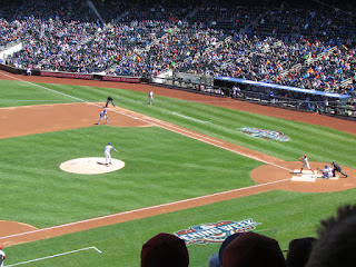First pitch, Phillies vs. Metropolitans