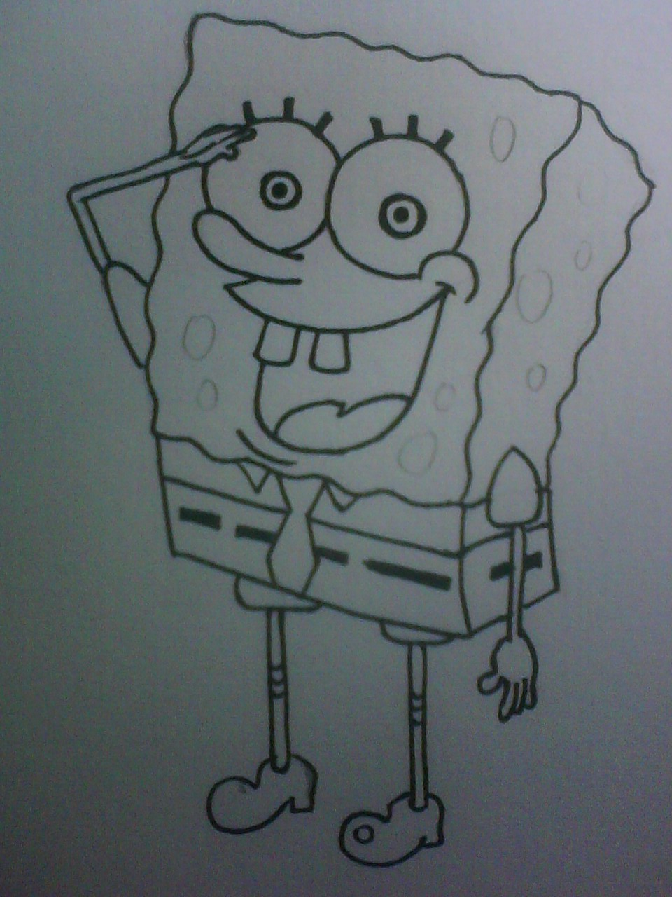 Menggambar Spongebob Squarepants  FLasholiX